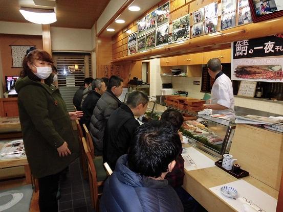 誕生会でお寿司屋へ